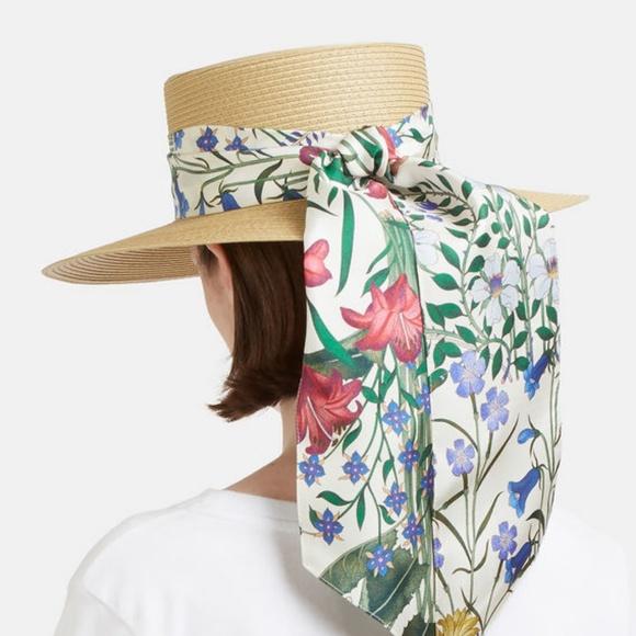 b803f7285f5bf Gucci Floral Alba Straw Hat